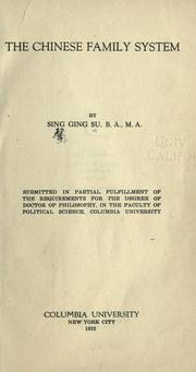 Cover of: The Chinese family system