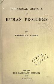 Cover of: Biological aspects of human problems