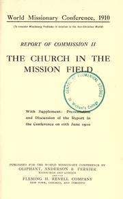 Cover of: Report of Commission II |