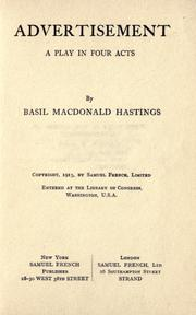 Cover of: Advertisement