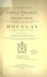 Cover of: A collection of family records