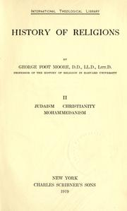 History of religions by George Foot Moore