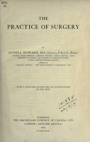 Cover of: The practice of surgery