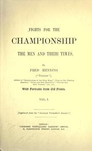 Cover of: Fights for the championship