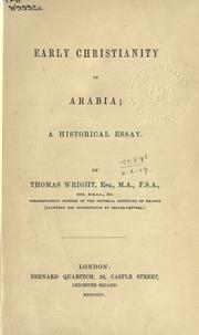 Cover of: Early Christianity in Arabia