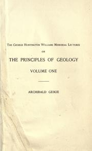 Cover of: The founders of geology | Archibald Geikie