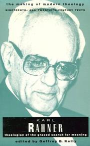 Cover of: RAHNER KARL MAKING OF MODERN THEOLOGY (Making of Modern Theology) |