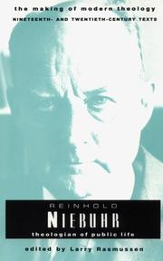 Cover of: Reinhold Niebuhr