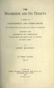 Cover of: The wilderness and its tenants