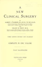 Cover of: A New clinical surgery