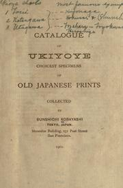 Cover of: Catalogue of ukiyoye