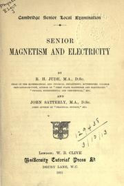 Cover of: Senior magnetism and electricity