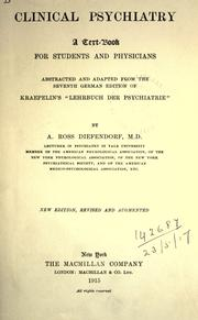 Cover of: Clinical psychiatry