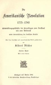 Cover of: Die amerikanische revolution, 1775-1783