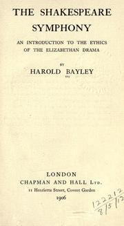 The Shakespeare symphony by Harold Bayley
