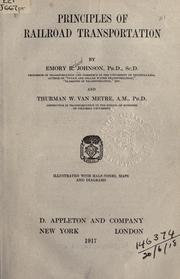 Cover of: Principles of railroad transportation