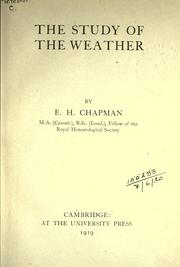 Cover of: The study of the weather