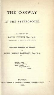 Cover of: The Conway in the stereoscope