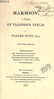 Cover of: Marmion, a tale of Flodden Field: Edited with an introd. and notes for the use of students by George B. Aiton.