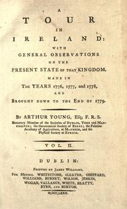 Cover of: A tour in Ireland