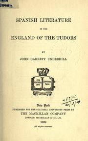 Cover of: Spanish literature in the England of the Tudors