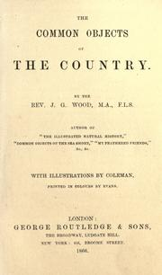 Cover of: The common objects of the country