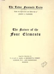 Cover of: The nature of the four elements by