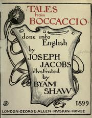 Cover of: Tales from Boccaccio
