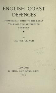Cover of: English coast defences from Roman times to the early years of the nineteenth century