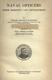 Cover of: Naval officers