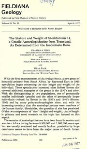 The stature and weight of Sterkfontein 14 by Charles A. Reed