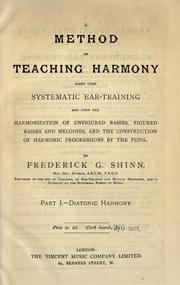 Cover of: A method of teaching harmony