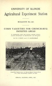 Cover of: Corn varieties for cinch-bug infested areas