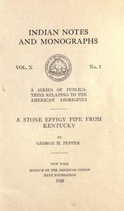 Cover of: A stone effigy pipe from Kentucky