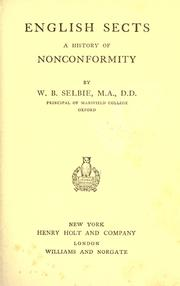 Cover of: English sects history of noncomformity