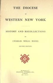 Cover of: The Diocese of Western New York | Charles Wells Hayes