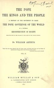Cover of: The pope, the kings and the people | Arthur, William