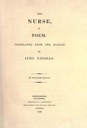 Cover of: The nurse, a poem