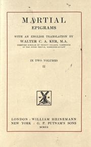 Cover of: Martial epigrams | Marcus Valerius Martialis