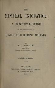 Cover of: The mineral indicator