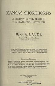 Kansas shorthorns by Laude, G. A.