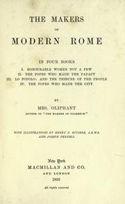 The makers of modern Rome by Margaret Oliphant