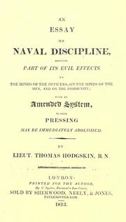 Cover of: An essay on naval discipline