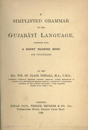 Cover of: A simplified grammar of the Gujar©Æat©Æi language | Tisdall, William St. Clair