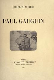 Cover of: Paul Gauguin. | Charles Morice