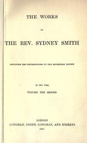 Cover of: The Works of Sydney Smith: including his contributions to the Edinburgh Review.