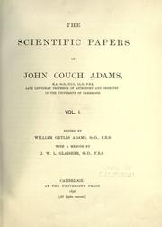 Cover of: The scientific papers of John Couch Adams ..