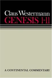 Cover of: Genesis 1-11: a commentary