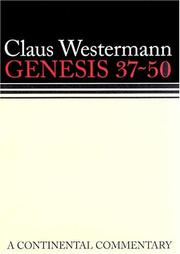 Cover of: GENESIS 37-50 A CONTINENTAL COMMENTARY