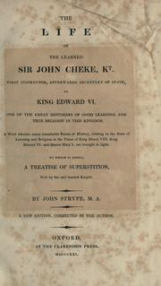 Cover of: The life of the learned Sir John Cheke, kt